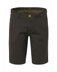 Short allover printed garment dyed olive