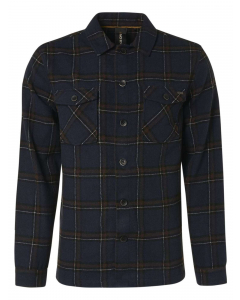 Overshirt button closure check with night