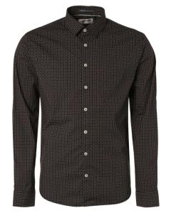 Shirt stretch allover printed black