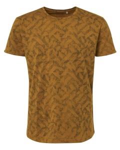 T-shirt s/sl, r-neck, ao printed sl ocre
