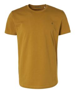 T-shirt short sleeve crewneck gold