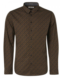 Shirt long sleeve all over printed bronze