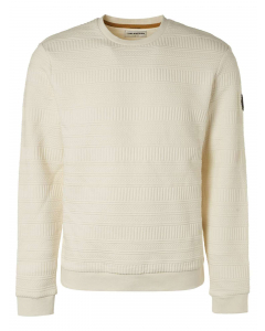 Sweater crewneck fancy jacquard chalk