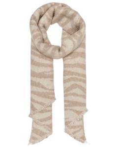 Onlnina life heavy fringe tiger scarf cc ecru/tige