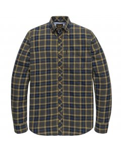 Long sleeve shirt flannel with yd medieval blue