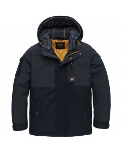Hooded jacket wooler & softshell s navy