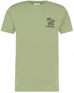 T-shirt palm embro lt army