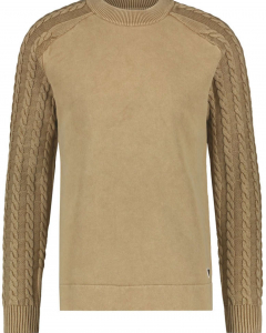 sweat with knit  sand