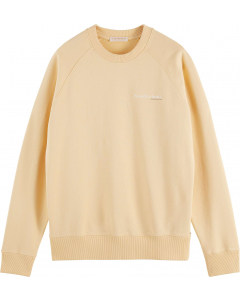 Classic crewneck in organic cotton vanilla
