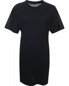 Cotton modal t-shirt dress black