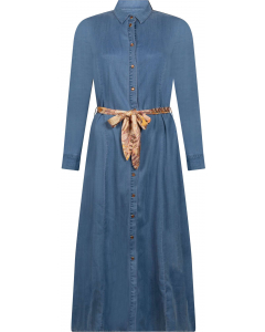 Dress mid blue denim