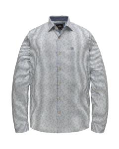 Long sleeve shirt print on woven s maritime blue