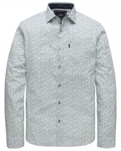 Long sleeve shirt print on poplin bright white