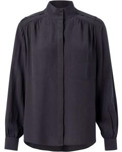 Lyocell blend high neck shirt phantom