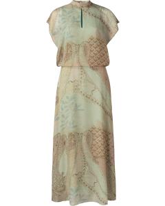 Printed high neck dress faded artichoke dess