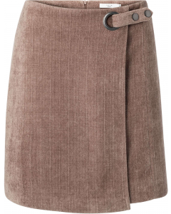 Structured mini skirt taupe grey